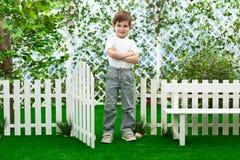 Ragazzo nel giardino Fotografia Stock Libera da Diritti