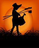 Ragazzo nel tramonto Fotografie Stock Libere da Diritti