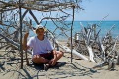 Ragazzo nella meditazione Fotografie Stock Libere da Diritti