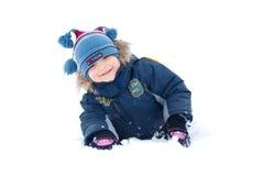 Ragazzo nella neve Fotografie Stock