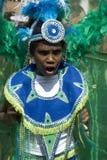 Ragazzo nero arrabbiato al carnevale di Notting Hill Fotografia Stock