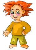 Ragazzo Red-haired Fotografia Stock