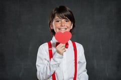 Ragazzo romantico al San Valentino Fotografia Stock Libera da Diritti