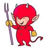 Ragazzo rosso sveglio del demone Fotografie Stock