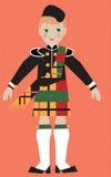 Ragazzo scozzese in costume tradizionale Fotografia Stock