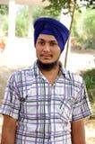 Ragazzo sikh fotografia stock libera da diritti