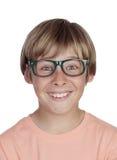 Ragazzo sorridente con i vetri Immagine Stock Libera da Diritti