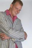 Ragazzo sorridente di affari Immagine Stock