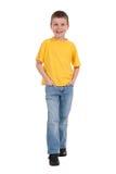 Ragazzo sorridente in maglietta gialla fotografia stock libera da diritti