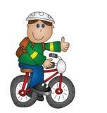 Ragazzo su una bicicletta Fotografia Stock Libera da Diritti