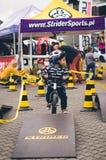 Ragazzo sulla bici dell'equilibrio Immagine Stock Libera da Diritti