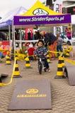 Ragazzo sulla bici dell'equilibrio Immagini Stock Libere da Diritti