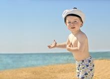 Ragazzo sulla spiaggia Immagine Stock Libera da Diritti