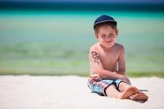 Ragazzo sulla vacanza Fotografia Stock Libera da Diritti