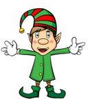 Ragazzo sveglio Elf di Natale Immagini Stock Libere da Diritti