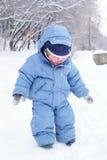 Ragazzo sveglio in snowsuit Immagini Stock Libere da Diritti