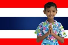 Ragazzo tailandese, condizione dell'uomo ciao fotografie stock libere da diritti