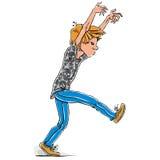 Ragazzo teenager di camminata spaventoso Immagine Stock Libera da Diritti