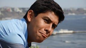 Ragazzo teenager di ferita o di ribaltamento Fotografie Stock Libere da Diritti