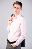Ragazzo teenager di sedici anni attraente Immagini Stock Libere da Diritti