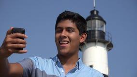 Ragazzo teenager Pippo Selfie stock footage