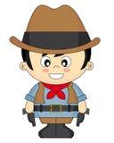 Ragazzo vestito come cowboy Fotografie Stock Libere da Diritti