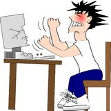 Rage d'ordinateur illustration libre de droits