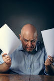 Rage expression Royalty Free Stock Images