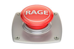 Rage Red Button, 3D rendering Royalty Free Stock Photography