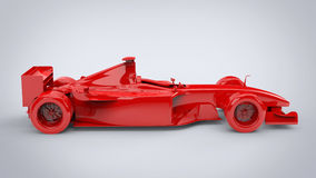 Rage red, formula racing car - side view Royalty Free Stock Photos
