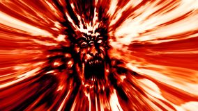 Rage red zombie head. Image in genre of horror. Rage red zombie head. Image with blur effect. Illustration in genre of horror Stock Photo