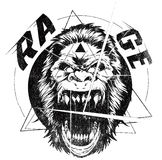 Rage. Vector illustration ideal for printing on apparel clothes Royalty Free Stock Photography