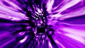 Rage zombie head with blur effect. Rage zombie head. Image with blur effect. Illustration in genre of horror Stock Photo