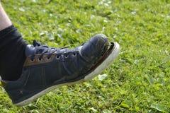Ragged πάνινο παπούτσι Στοκ Φωτογραφίες