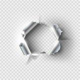 Ragged τρύπα που σχίζεται στο σχισμένο μέταλλο διανυσματική απεικόνιση