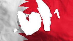 Ragged Bahrain flag. White background, 3d rendering stock illustration