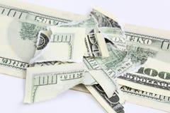 Ragged dollar Royalty Free Stock Image