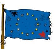 Ragged Euro flag Royalty Free Stock Photo