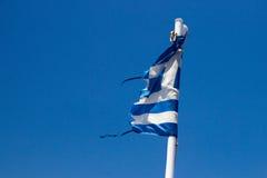 Ragged flag Greece Royalty Free Stock Image