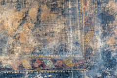 Ragged fresco in Pompeii, Italy. Ragged fresco on the wall in Pompeii, Italy. Background royalty free stock photography