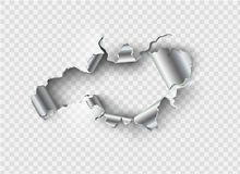 Free Ragged Hole Torn In Ripped Metal Stock Photos - 119885473