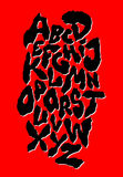 Ragged horror font. Old style. Vector Royalty Free Stock Image