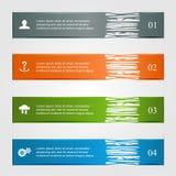 Ragged infographics Royalty Free Stock Photo