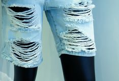 Ragged jeans Stock Photography