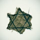 Ragged Jewish badge Royalty Free Stock Images
