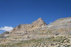 Ragged mountain among desert stock photography