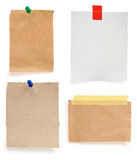 Ragged note paper Royalty Free Stock Image