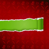 Ragged paper with christmas pattern Royalty Free Stock Image