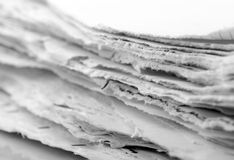 Ragged paper sheets Royalty Free Stock Photography