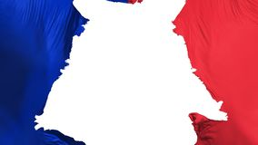 Ragged Paris city flag. Ragged Paris city, capital of France flag, white background, 3d rendering vector illustration